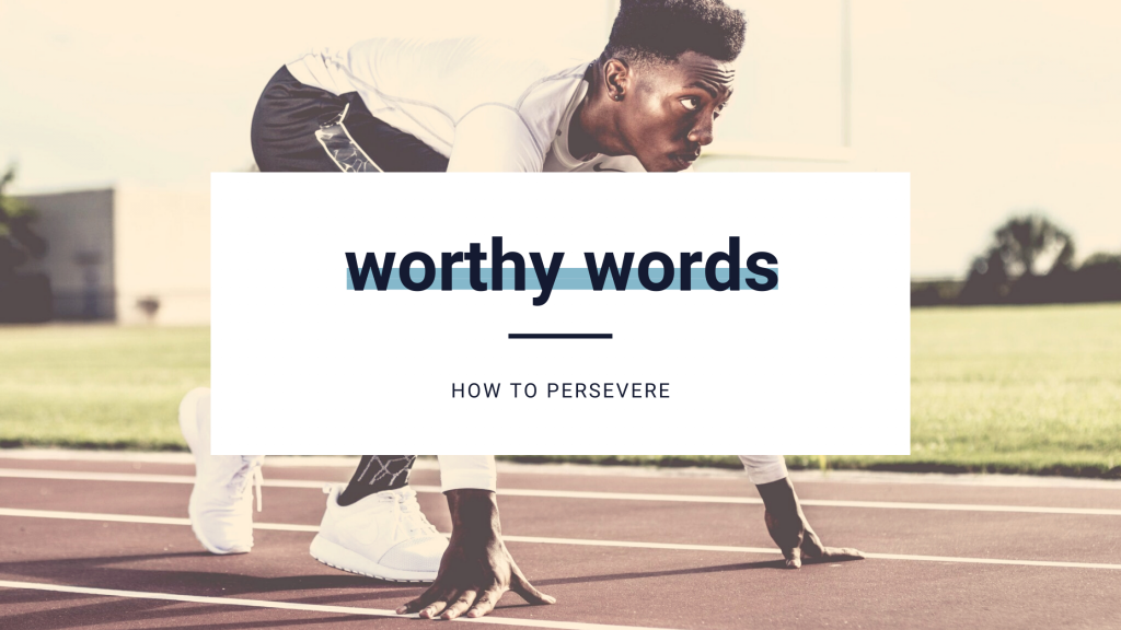 worthy words persevere banner